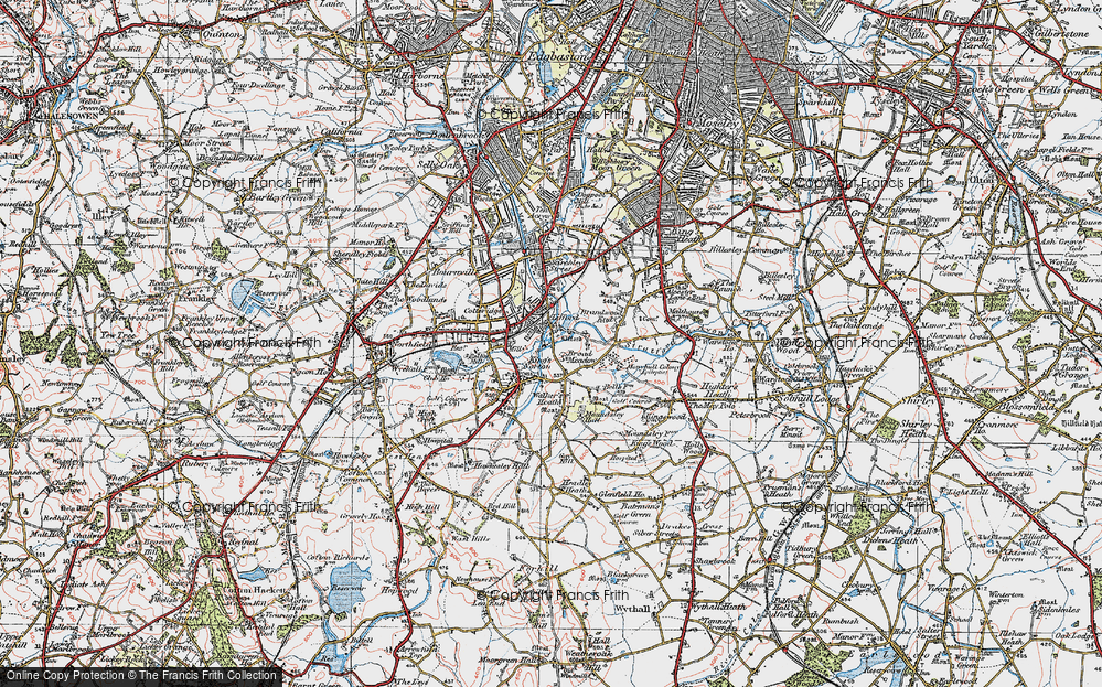Old Map of King's Norton, 1921 in 1921