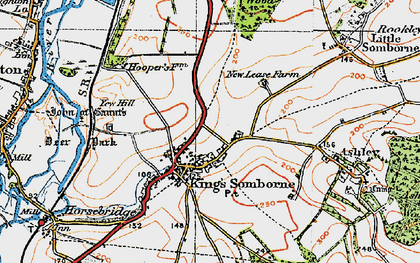 Old map of Yew Hill in 1919