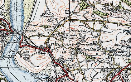 Old map of King's Tamerton in 1919