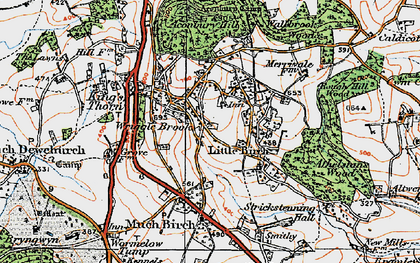 Old map of Aconbury Hill in 1919