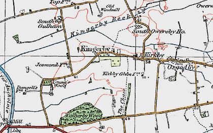 Old map of Young's Wood in 1923