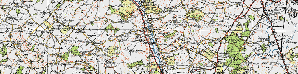 Old map of Kings Langley in 1920