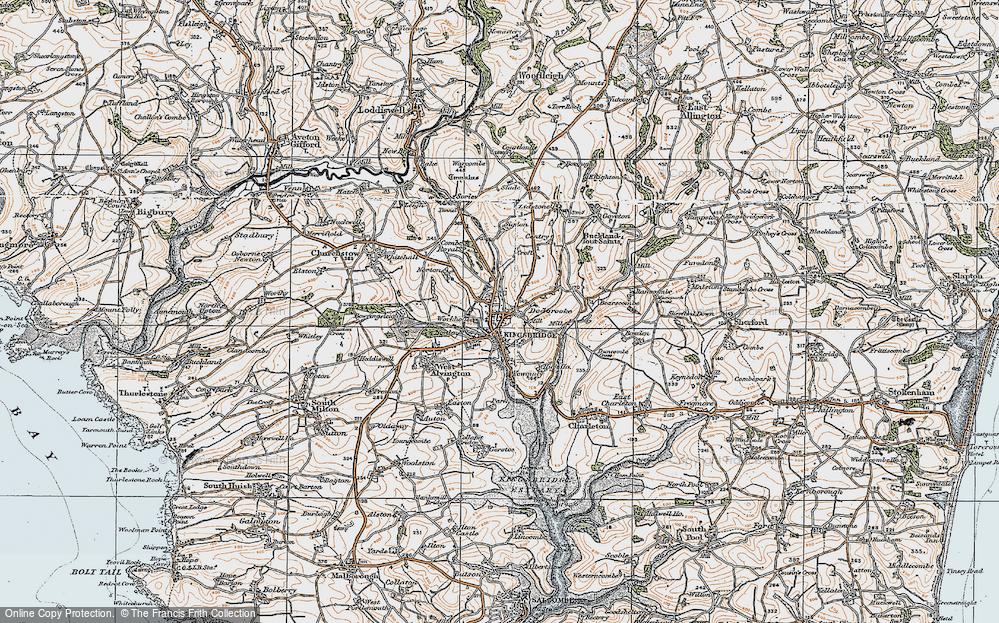 Old Map of Kingsbridge, 1919 in 1919