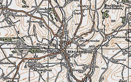 Old map of Kingsbridge in 1919