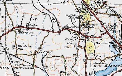 Old map of Kingsbury in 1920