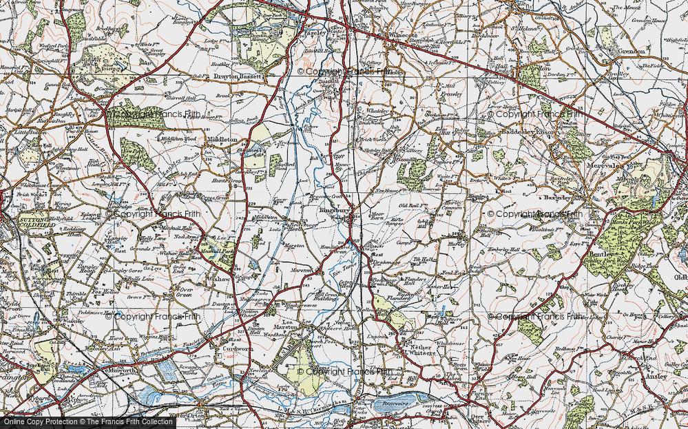 Old Map of Kingsbury, 1921 in 1921