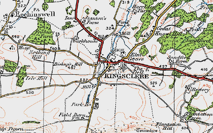 Old map of Kingsclere in 1919