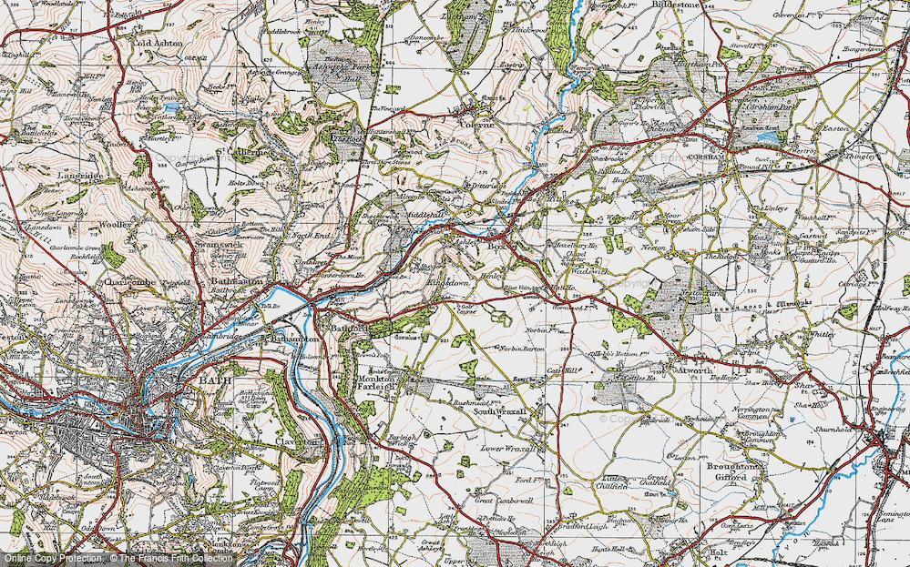 Old Map of Kingsdown, 1919 in 1919