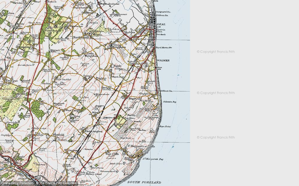 Old Map of Kingsdown, 1920 in 1920