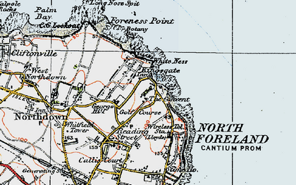 Old map of White Ness in 1920