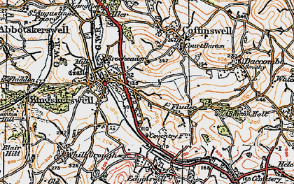 Old map of Kingskerswell in 1919