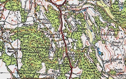 Old map of Whitehanger in 1919