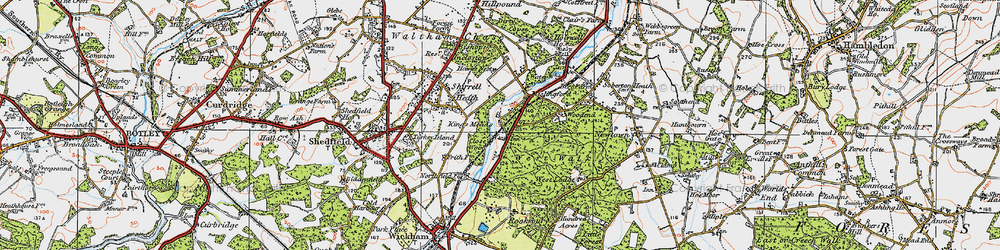 Old map of West Walk in 1919