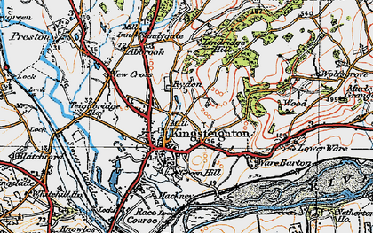 Old map of Kingsteignton in 1919