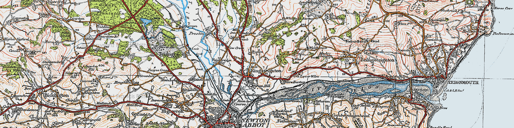 Old map of Lindridge Hill in 1919