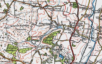 Old map of Baker's Brake in 1919