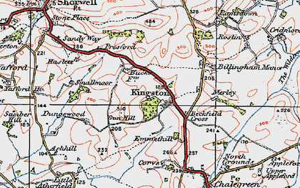 Old map of Kingston in 1919