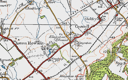 Old map of Aston Wood in 1919