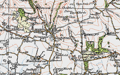 Old map of Kingston St Mary in 1919