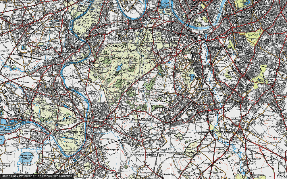 Old Maps of Richmond Park Francis Frith