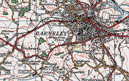 Old map of Kingstone in 1924