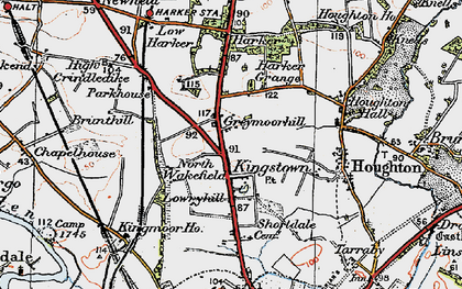 Old map of Kingstown in 1925