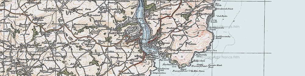 Old map of Kingswear in 1919