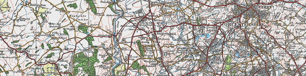 Old map of Kingswinford in 1921