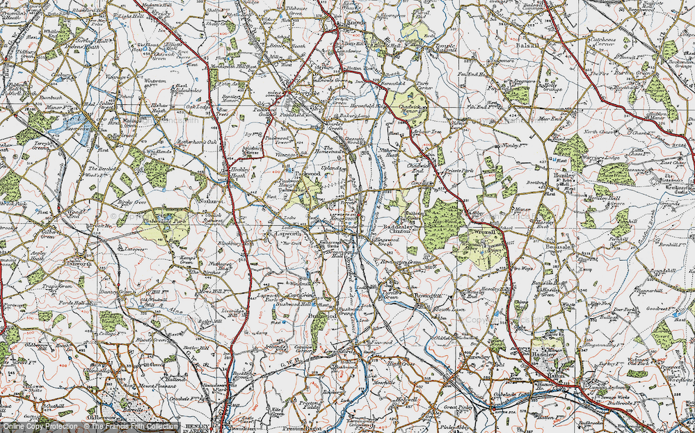 Old Map of Historic Map covering Lapworth Sta in 1919