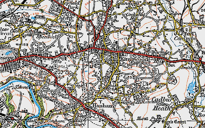 Old map of Kingswood in 1919