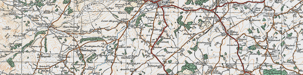Old map of Woodbrook in 1920