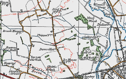 Old map of Kingswood in 1923