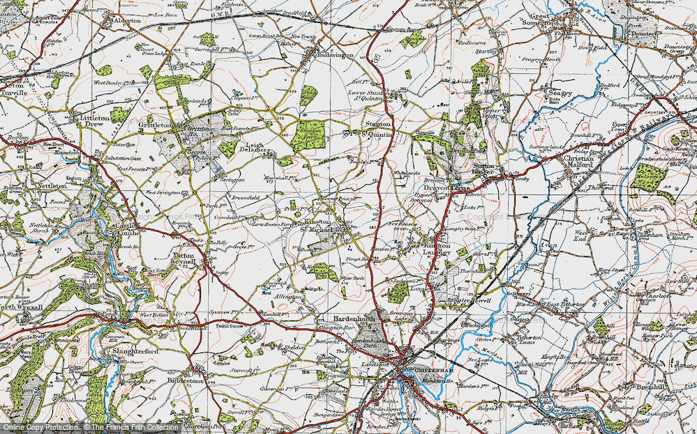 Old Map of Kington St Michael, 1919 in 1919