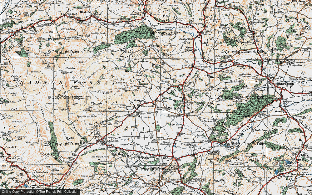 Old Map of Historic Map covering Bank in 1920