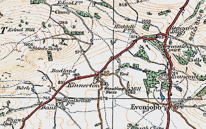 Old map of Bache Hill in 1920