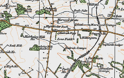 Old map of Langley Beck in 1925