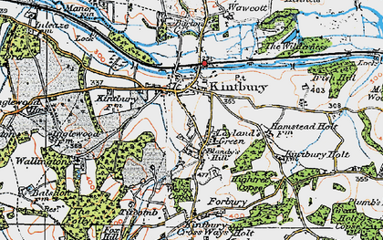 Old map of Kintbury in 1919