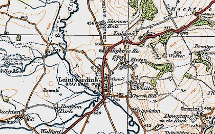 Old map of Leintwardine Manor in 1920