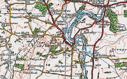 Old map of Kinver in 1921