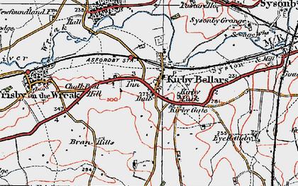 Old map of Kirby Bellars in 1921