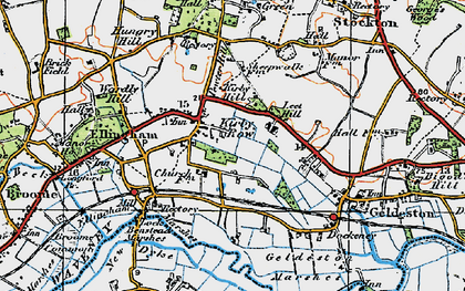 Old map of Leet Hill in 1921