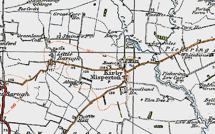 Old map of Barker Stakes in 1925
