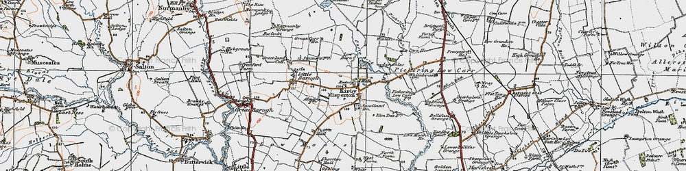 Old map of White Lily in 1925