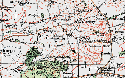 Old map of White Scar Plantn in 1924