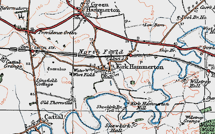 Old map of Wilstrop Village in 1925
