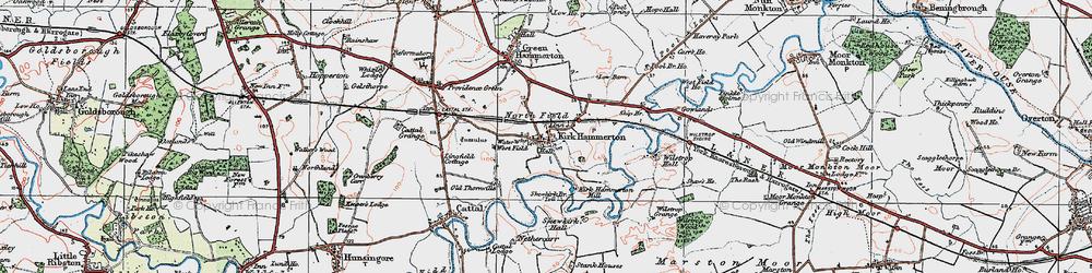 Old map of Wilstrop Village in 1925