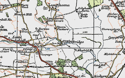 Old map of Langthorn Wood in 1925