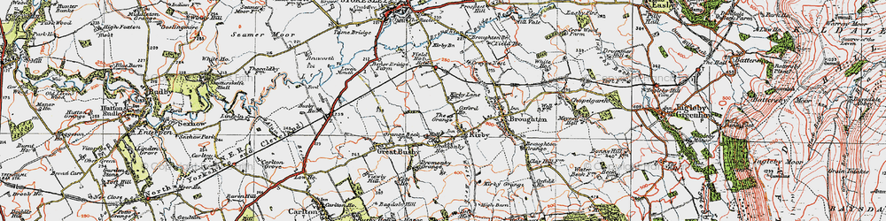 Old map of Kirkby in 1925