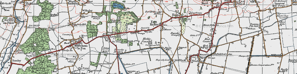 Old map of Whaiff Ho in 1923