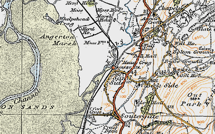 Old map of Kirkby-in-Furness in 1925